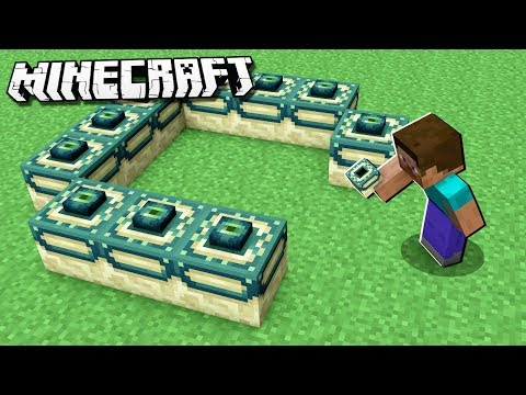 How to Make an END PORTAL in Minecraft Creative!