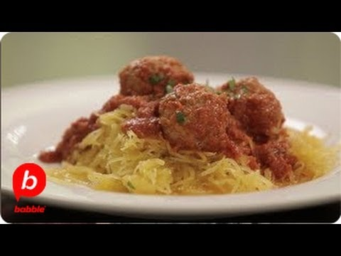 How to Make Spaghetti Squash and Meatballs   That's Fresh with Helen Cavallo   Babble