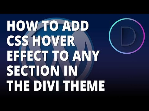 Divi Theme -  Add CSS Hover Effect To Any Module In The Divi WordPress Theme