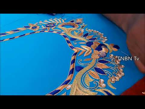 aari work blouse designs tutorial,simple maggam work blouse designs,hand embroidery stitches flowers