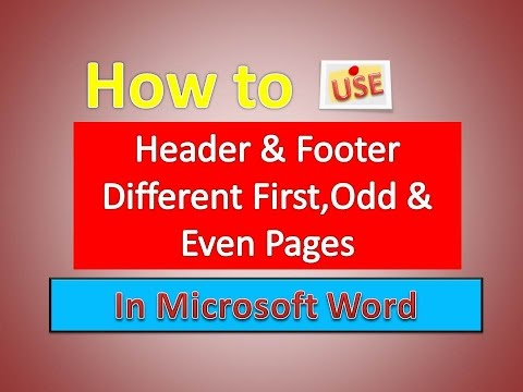 How to Use Header & Footer Different First,Odd & Even Pages in Word [Urdu / Hindi]