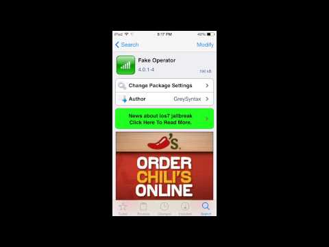 How To: Change Carrier Name (iOS 7.1.2 Jailbroken)