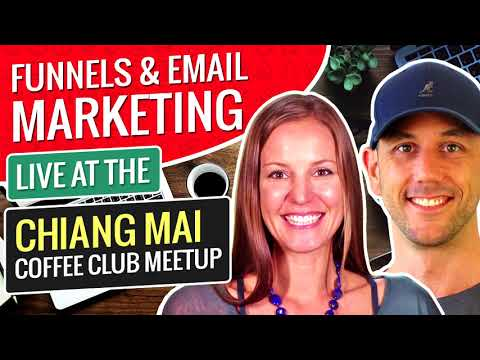 LIVE! Marketing Funnels & Email Marketing With Melanie. A Live Presentation At The Nomad Coffee Club