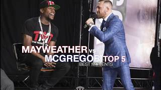 Mayweather Vs McGregor Fight - Top 5 Best Moments From World Tour Press Conference