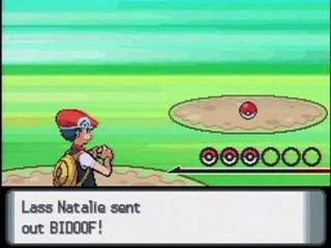 Pokemon Diamond and Pearl Trainer Battle