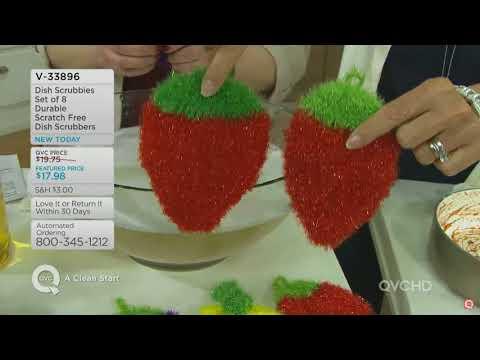 Dish Scrubbie ™ QVC No More Smelly Sponges