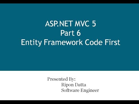 ASP.NET MVC 5 Step by Step: Part 6 Entity Framework Code First