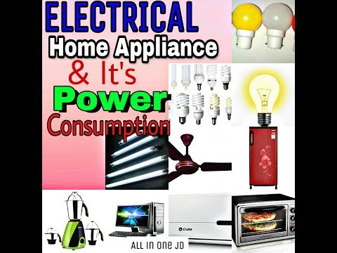 Electrical Power Consumption/ Power supply calculate /Electrical home appliance