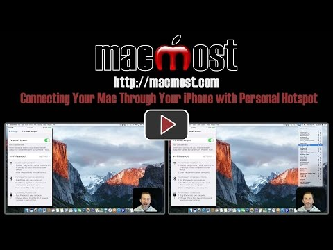 Connecting Your Mac Through Your iPhone with Personal Hotspot (#1348)