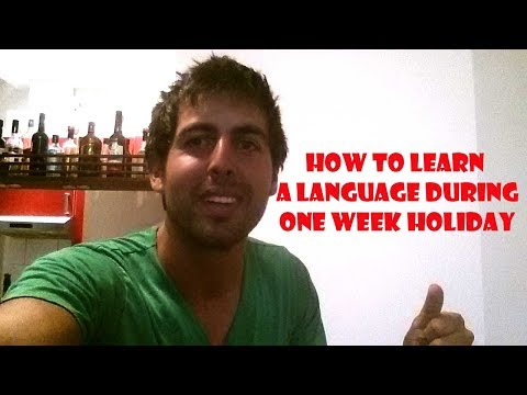How to learn a language during one week holiday