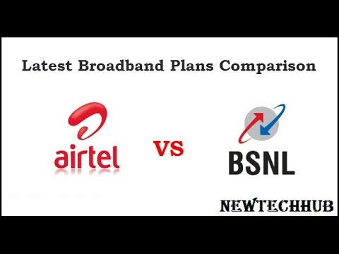 Broadband Comparison--Airtel Vs. BSNL Plans ---Broadband Only Deals in India