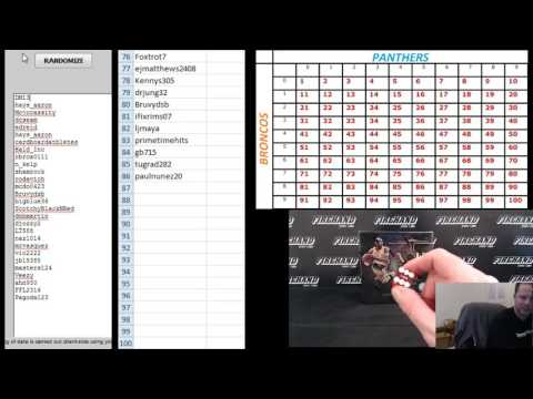 2016 Firehand Cards Super Bowl Squares Promo - Basketball Pool Squares Number Drawing