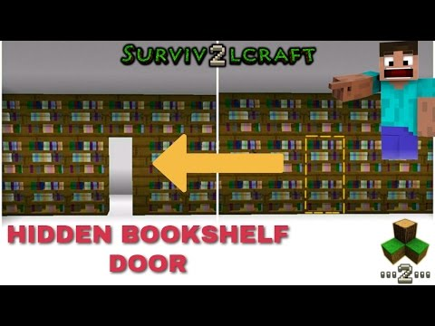 HIDDEN BOOKSHELF DOOR - Survivalcraft 2 | Survivalcraft Furniture