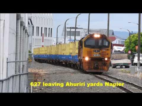 Freight train movements around Napier New Zealand 13 November 2017
