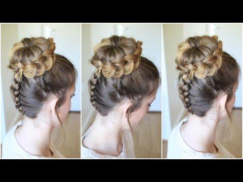 Upside down Braided Lace Bun | Braidsandstyles12