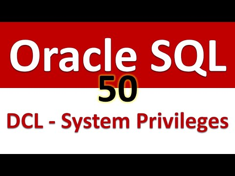 Oracle SQL Developer Tutorial For Beginners   50   DCL   System Privileges