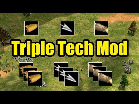 Triple Tech Mod AoE2 (Gameplay)