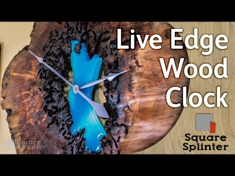 Resin & Live Edge Wood Slice Clock | Woodworking Art Projects