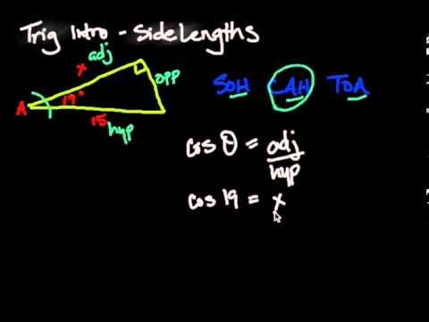 Trigonometry Intro - Solving side lengths Part 1