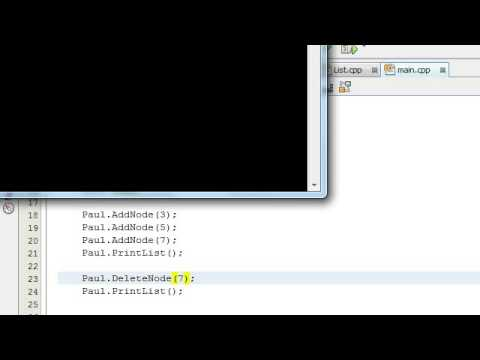 Creating a Linked List Project in C++ Part 7