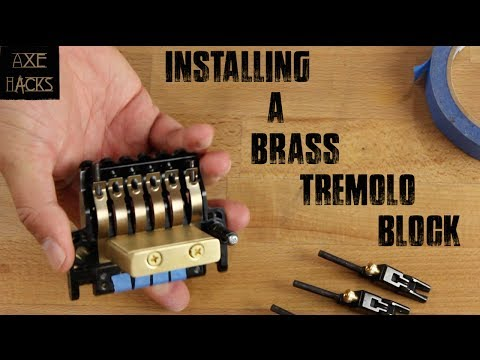 Floyd Rose Style Brass Block Install (Killer Guitar Components)