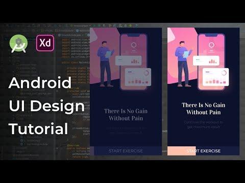 Fitness UI Animation Adobe Xd to Android Studio Tutorial