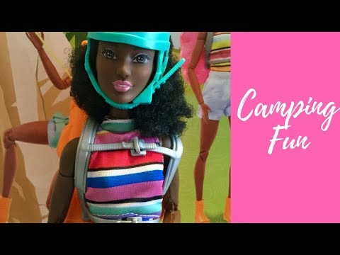 Barbie camping fun new  made to move dark complexion