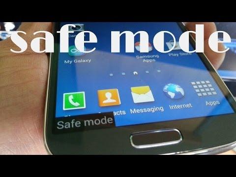 Samsung Galaxy S4 SAFEMODE TO FIX  APPLICATION SUDDENLY STOPPED ERROR