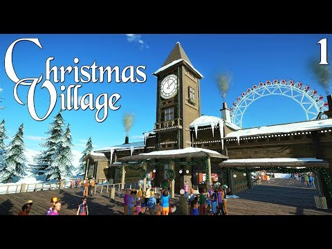 Planet Coaster: Christmas Village (Winter Wonderland) - Ep. 1 - The entrance and Ice Skating rink