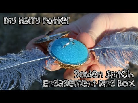 DIY Harry Potter Golden Snitch Engagement Ring Box