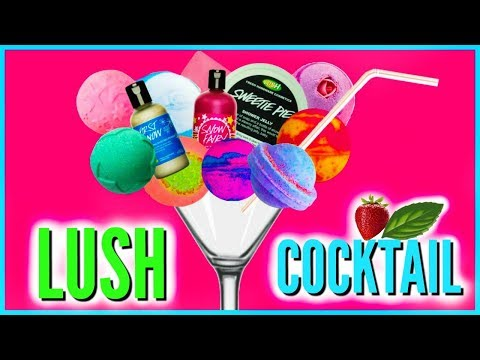 LUSH COCKTAIL!  CUTTING UP LUSH BATH BOMBS - Make Your Own Combo!!!