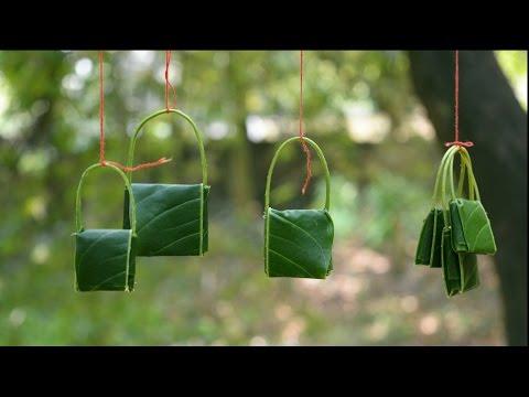 Make amazing  mango leaf Bags | Kids will love this