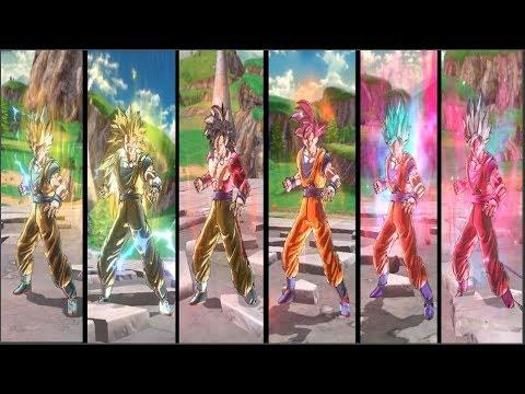 Goku Super Saiyan Transformations - Dragon Ball Xenoverse 2 Mods