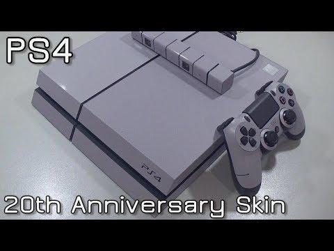 PS4 & Dualshock 4 20th Anniversary Skin