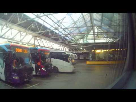 London Victoria Coach Station leaving in Freezing Fog