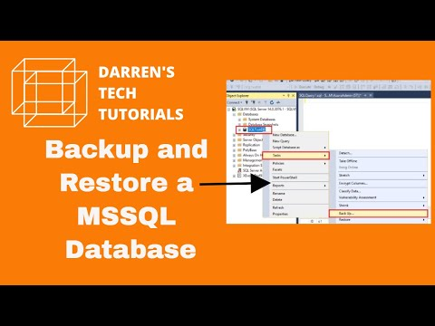 How to backup and restore a database on SQL server (SQL Server 2014)