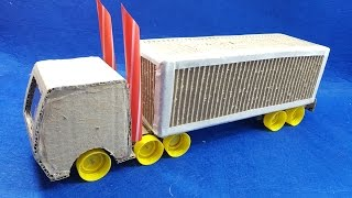 How To Make Cardboard Container Truck