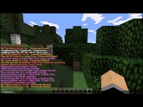 Minecraft-How To: Make a dome with World Edit