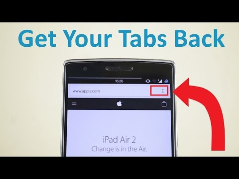How To Restore Chrome's Tabs Button on Android