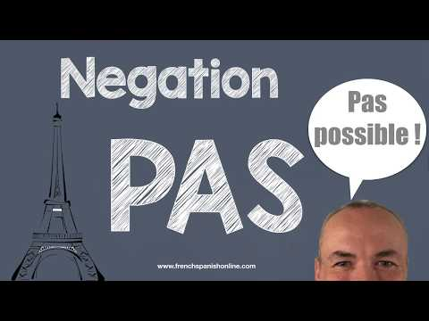 Negation PAS in french