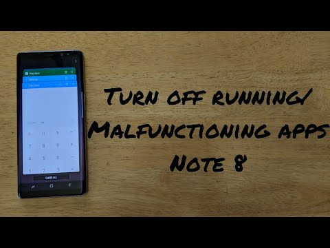 How to turn off running apps Samsung Galaxy Note 8