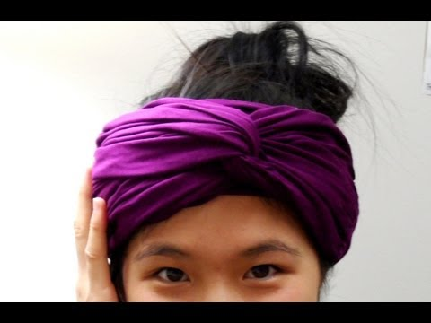 DIY: Scarf into Headwrap (No Sew)