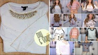 5 DIY Sweatshirts/Sweaters Collab w/MaiStyyle