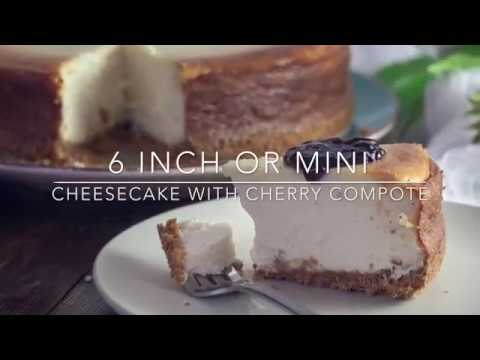 Cheesecake with Cherry Compote 6 inch pan or Mini tart size