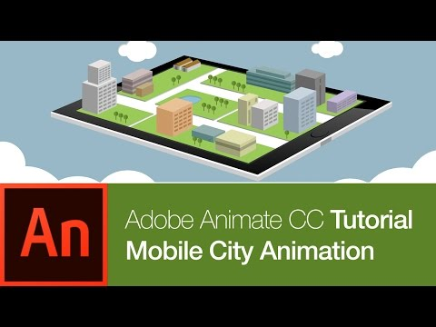 How to Draw and Animate in Abobe Animate CC: Mobile City (FREE DOWNLOAD)