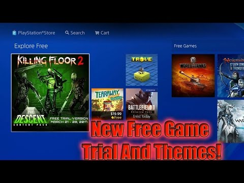 Free Game Trial And Free Themes PS4!