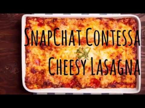 Snapchat Contessa's Amazing Lasagna