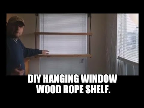 DIY Hanging Window Wood Rope Shelf Plants Garden Seedlings Succulents Germinating Seed Grow Sun.