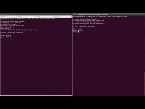 Socket based chat application with c++