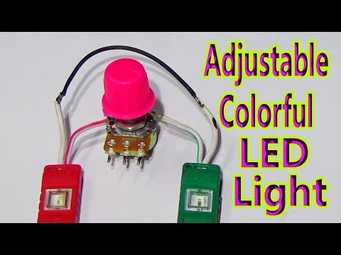 How To Make Adjustable Colorful LED Light  Circuit (Tutorial Videos)